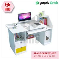 Meja Kerja Minimalis BEST Space Multifungsi 117x40x92cm - 2 Warna - Putih