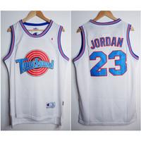 JERSEY BASKET NBA CLASSIC HWC TUNESQUAD #23 MICHAEL JORDAN HITAM/PUTIH