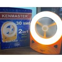 Kenmaster Lampu Emergency KM-560 32 LED Lamp Fan 2 in 1 Kipas Angin