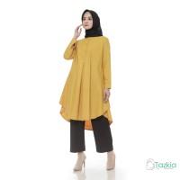 Atasan Muslim Wanita | Azkia Tunik Kuning | Toyobo | Tazkia Hijab
