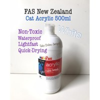 PUTIH Acrylic 500ml FAS New Zealand Cat Akrilik White ATK0954FS
