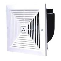 TJA || SEKAI MVF 893 Exhaust Fan Ceiling Hexos Plafon 8 inch