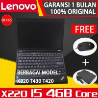 LenovoThinkpadCorei5 X220 8GB&4GB T430 8GB4GB T420 8GB4GB Laptop Bekas
