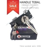 KOMPLIT LGS PASANG - GAGANG PINTU PISAH + body kunci set handle BAGUS