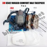 3M 6502 Masker Rugged Comfort Half Facepiece Respirator 7in1 MEDIUM