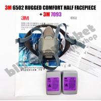 3M 6502 Masker Rugged Comfort Half Facepiece Respirator + 3M 7093 P100