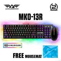 Armaggeddon MKO 13R RGB Optical Blue Switch Mechanical Keyboard