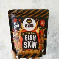 IRVINS Hot Bomb Salted Egg Fish Skin 105 Gram (Made in Singapore)