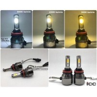 LAMPU LED HEADLAMP HB3 3 WARNA Icplus 3600 Lumens S2298