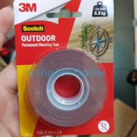 Double Tape Outdoor 3M Scotch Super Kuat / Permanent Mounting Tape 3M