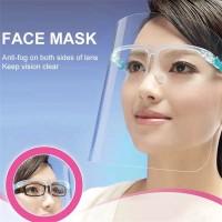 Face Shield Kacamata Dewasa Anak Hijab Safety Face Mask Pelindung Muka