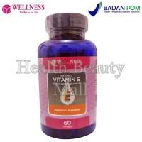 Wellness Natural Vitamin E 400iu Water Soluble (60 Softgels)