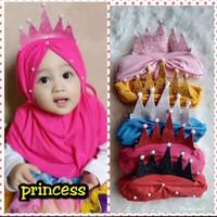 Jilbab Anak Crown / Kerudung bayi Murah/ Alody's Collection - All Size, Hitam