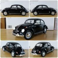 Diecast Miniatur Greenlight VW Beetle Kodok Black skala 1:18