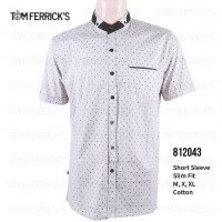 Kemeja Lengan Pendek Pria Tom Ferricks - Putih Motif - 812043