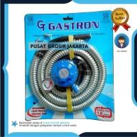 Paket Regulator Kompor Gas LPG Gastron ( Selang + Regulator )