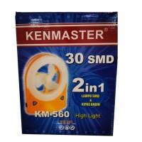 Kenmaster KM-560 Lampu Kipas Emergency 32 LED