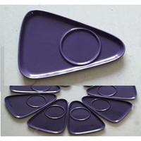 Saucer Three Angle Purple | Tatakan Segi Tiga Ungu | HN