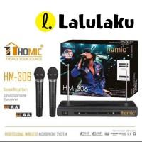 Mic Microphone HOMIC Double Wireless HM-306 HM306 VHF Series