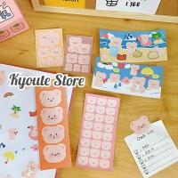 Sticker Sheet Cute Bear Scrapbook DIY Journal Diary HP Art Dekorasi