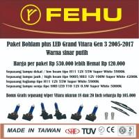 Paket bohlam Fehu plus LED Grand Vitara Gen 3 2005 2017 sinar putih