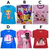 Kaos Anak Cewek motif karakter size 7-10 (7-10 tahun)