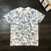 T-SHIRT BAPE MIRROR SPACE SHARK WHITE GLOW IMPOR PERFECT CLONE QUALITY