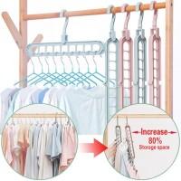 Gantungan Baju Magic Hanger Ajaib Multifungsi Dapat Dilipat 9 Lubang