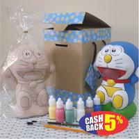 Doraemon Mainan Edukasi Mewarnai Patung Celengan Keramik