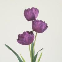 Tulip Belanda 3 kuntum bunga artificial dekorasi rumah taman pelaminan