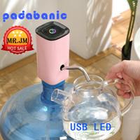 Water Dispencer Mini Padabanic Automatic Pompa Galon Elektrik Charger - pdb pink