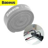 Baseus Velcro Cable Strap Organizer Wire Clip Pengikat Perekat Kabel - 3m, Abu-abu