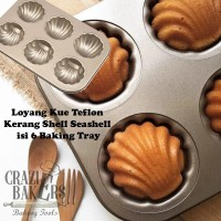 Loyang Kue Teflon Kerang Shell Seashell isi 6 Baking Tray