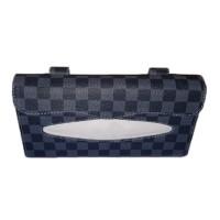 Tempat Tissue Mobil/Tempat Tissue Sun Visor Motif Grey Chess