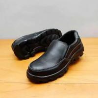 sepatu safety ujung besi kulit asli