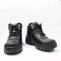sepatu safety ujung besi garansi kulit asli