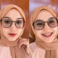 kacamata frame elastic paket lensa normal/minus photocromic