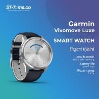 Garmin Vivomove Luxe / Vivo Move Luxe - Navy Leather Silver Hardware