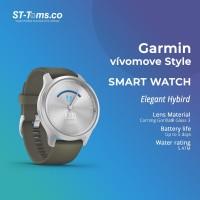 Garmin Vivomove Style / Vivo Move Style - Moss Green Silver Hardware