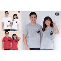 BAJU couple panda / KAOS pasangan BIG SIZE M L XL ( dpt 2 pc )