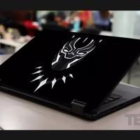 Stiker Laptop PC Notebook Garskin Pelindung Anti Gores Hitam