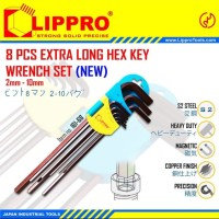 LIPPRO KUNCI L SET 8 PCS PANJANG LONG HEX KEY 8PCS LIPRO HEAVY DUTY S2
