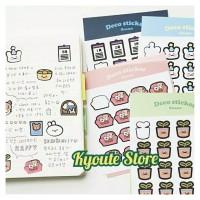 2 Lembar Sticker Sheets Dekorasi Scrapbook DIY Bujo Journal Planner