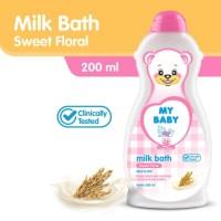 My Baby Milk Bath 200ml Sabun Bayi Cair With Telon Sweet Floral 200 ml