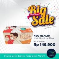 [BIG SALE] NEO Health Hijab Headloop Mask 3ply (50 pcs)