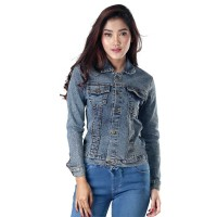 Jaket / Outer Wanita Fashion Biru Jeans Denim INF 928