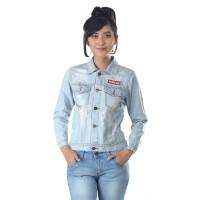 Jaket / Outer Wanita Fashion Biru Jeans Denim INF 174