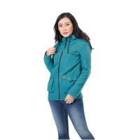 Jaket / Outer Wanita Fashion Hijau Tosca Micro INF 442