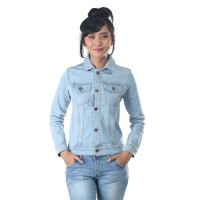 Jaket / Outer Wanita Fashion Biru Jeans Denim INF 305