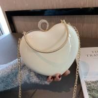 READY STOK JT180BIG-white Tas Selempang Pesta Love Cantik Elegan
